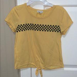 yellow checkered shirt